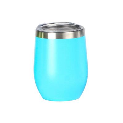 Vaso de acero inoxidable doble pared con tapa transparente de plástico